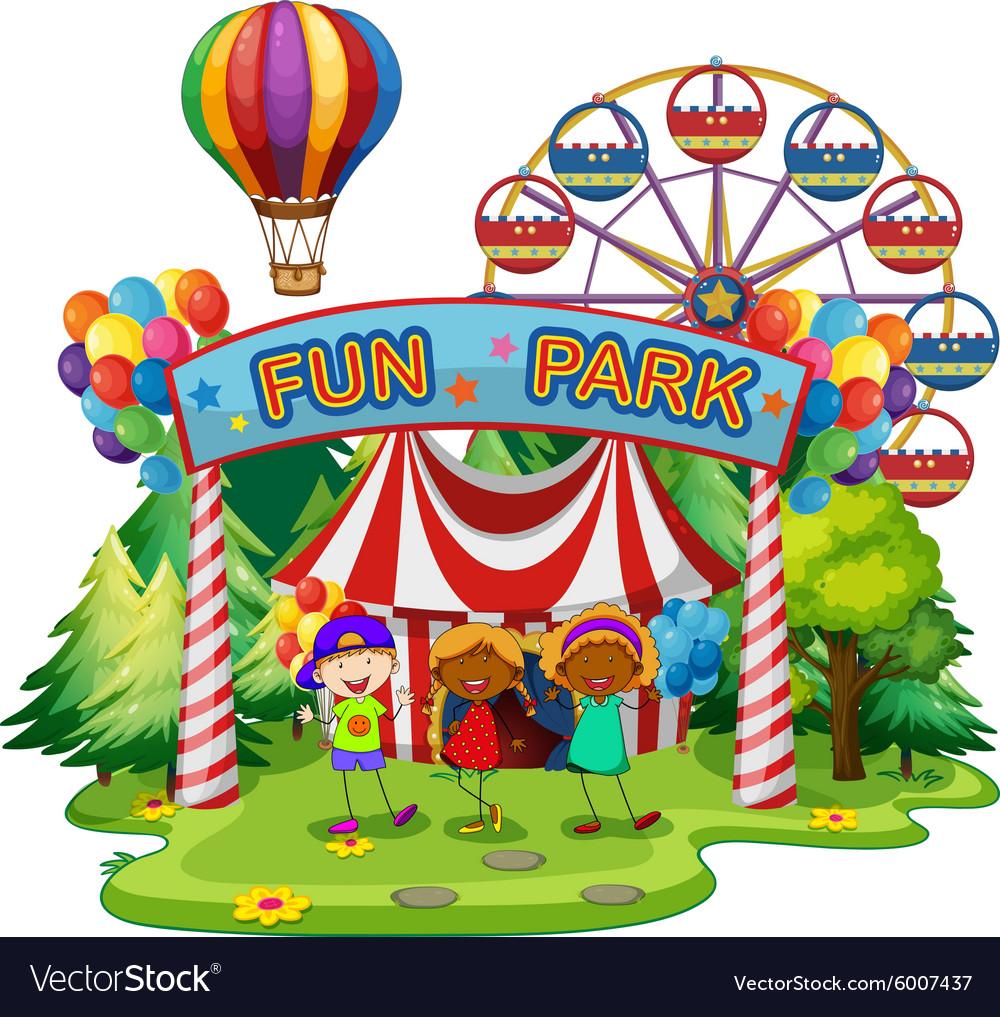 Kids at fun park