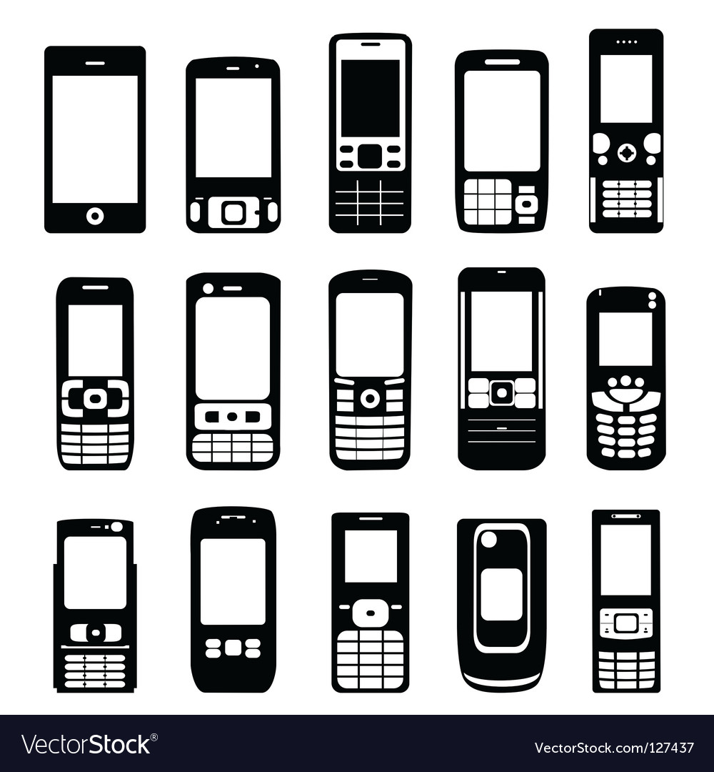 Set of mobile phone vector image