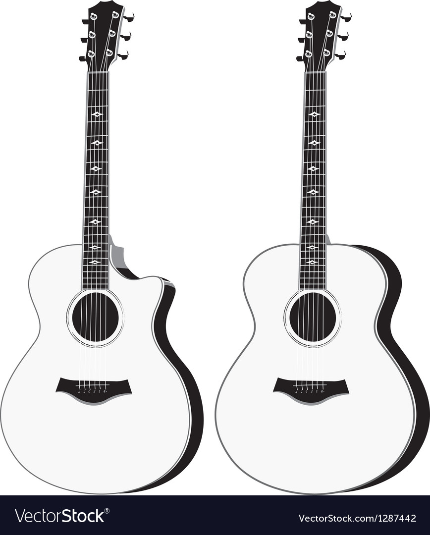 acoustic guitar royalty free vector image vectorstock rh vectorstock com acoustic guitar silhouette vector free acoustic guitar vector art