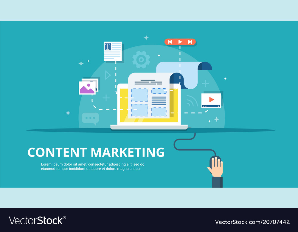 Content management smm and blogging concept in