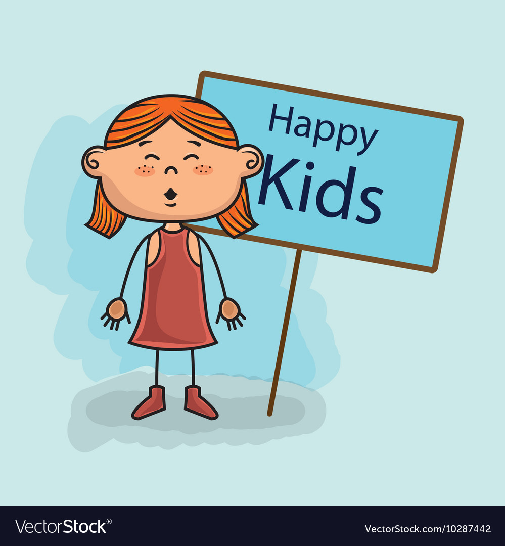 Girl kids happy poster