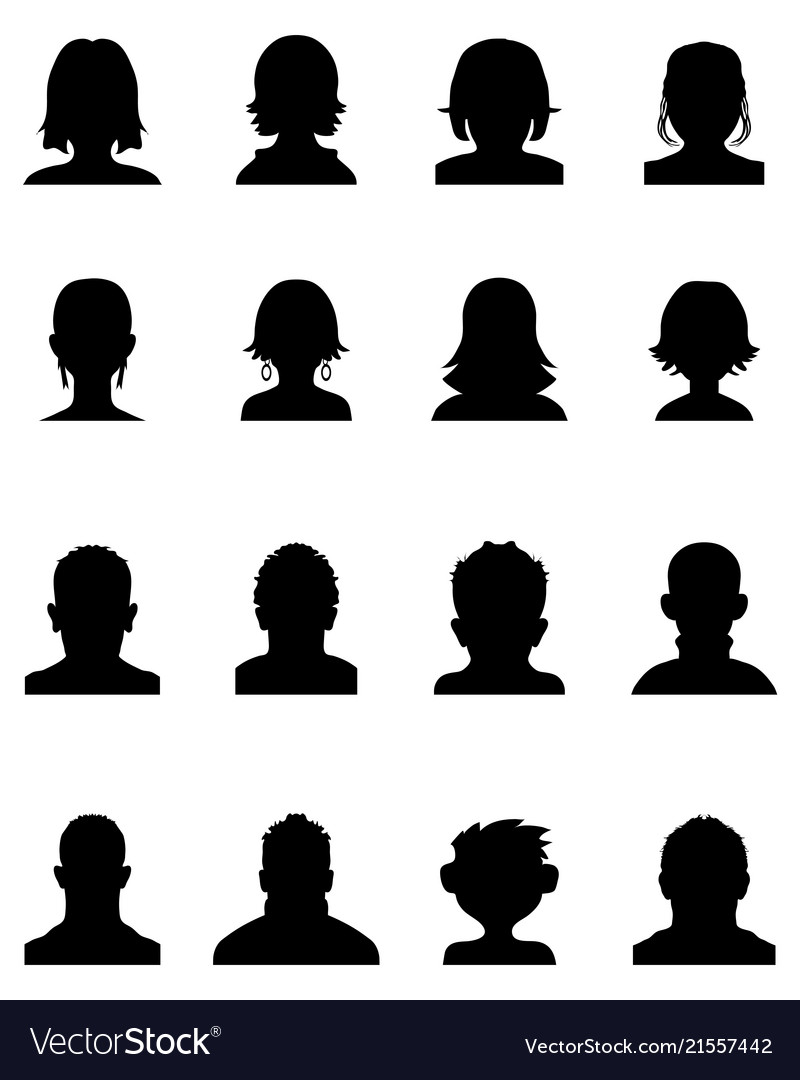 Head silhouettes avatar