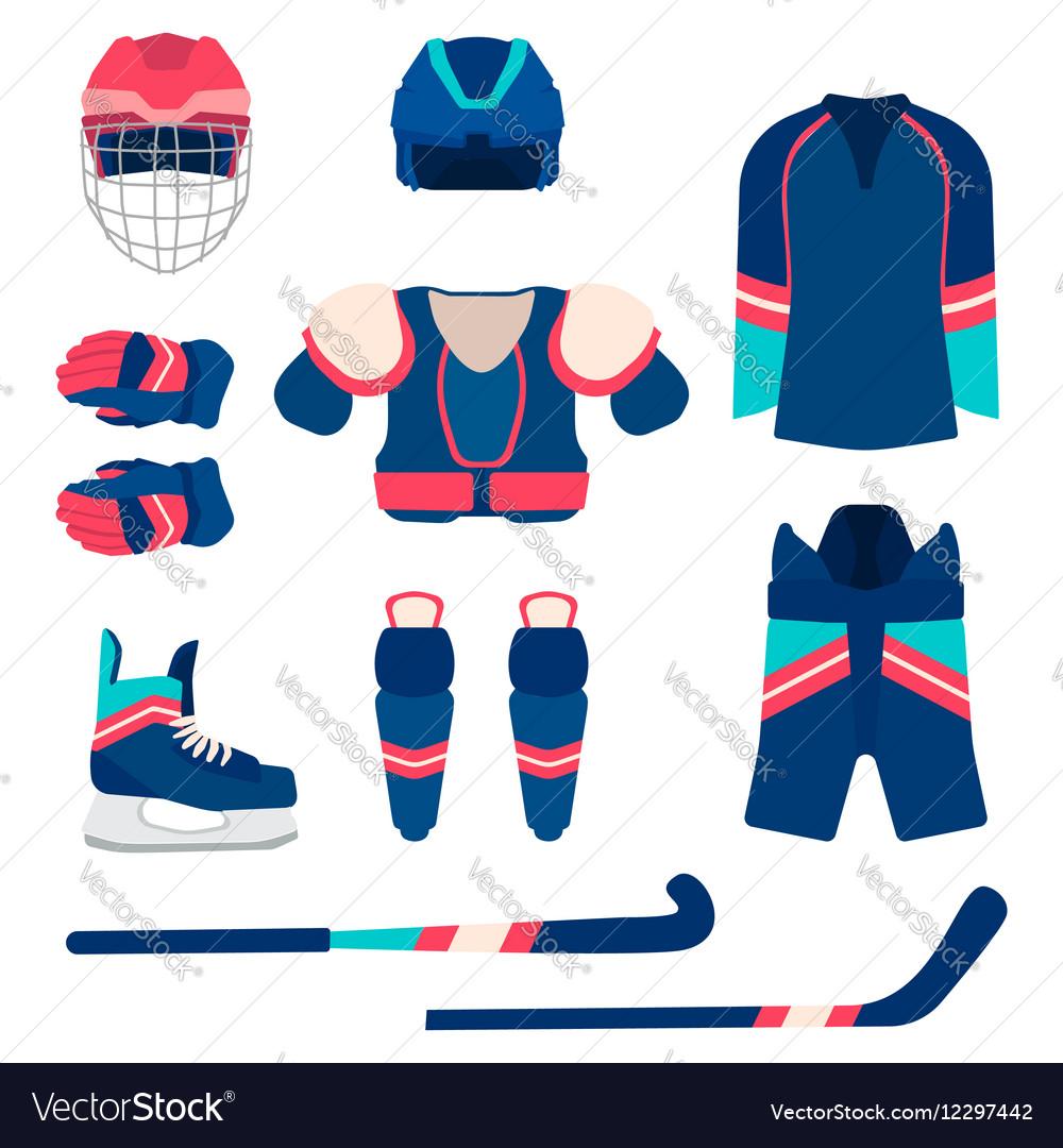 Ice hockey sport equipment set ice hockey