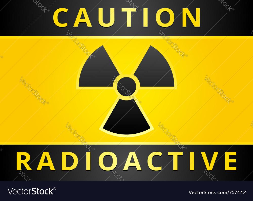 Radioactive hazard sign