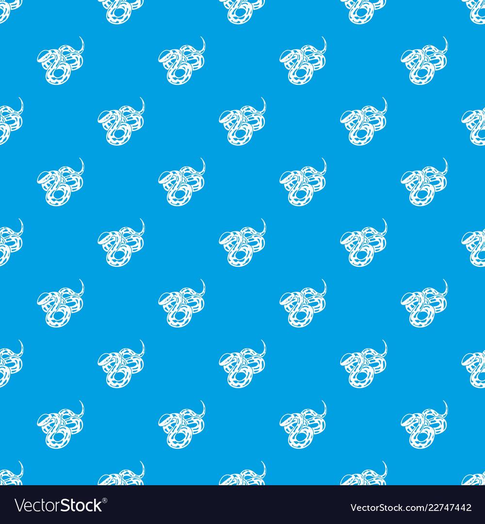 Texas snake pattern seamless blue