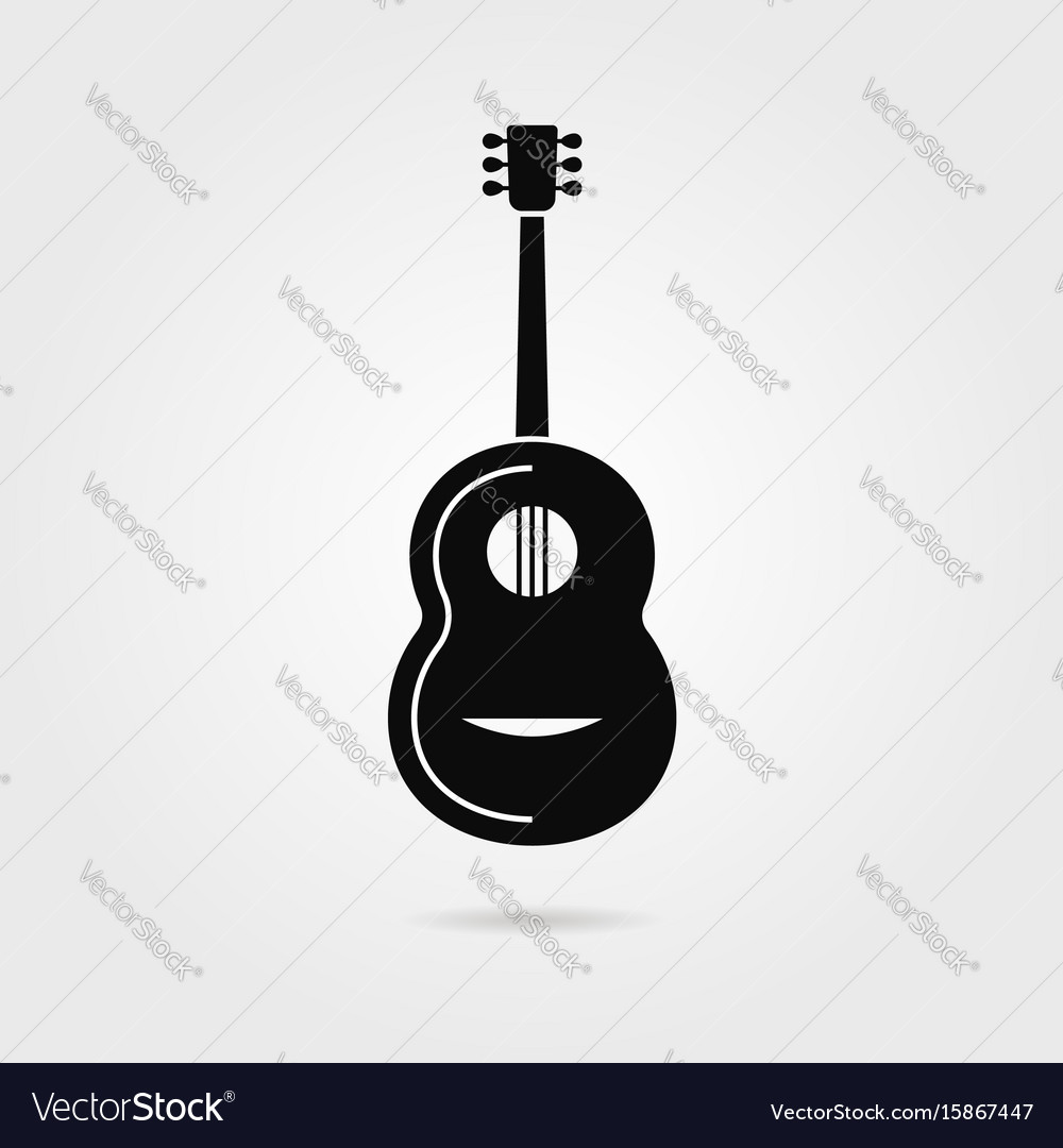 Black guitar with shadow