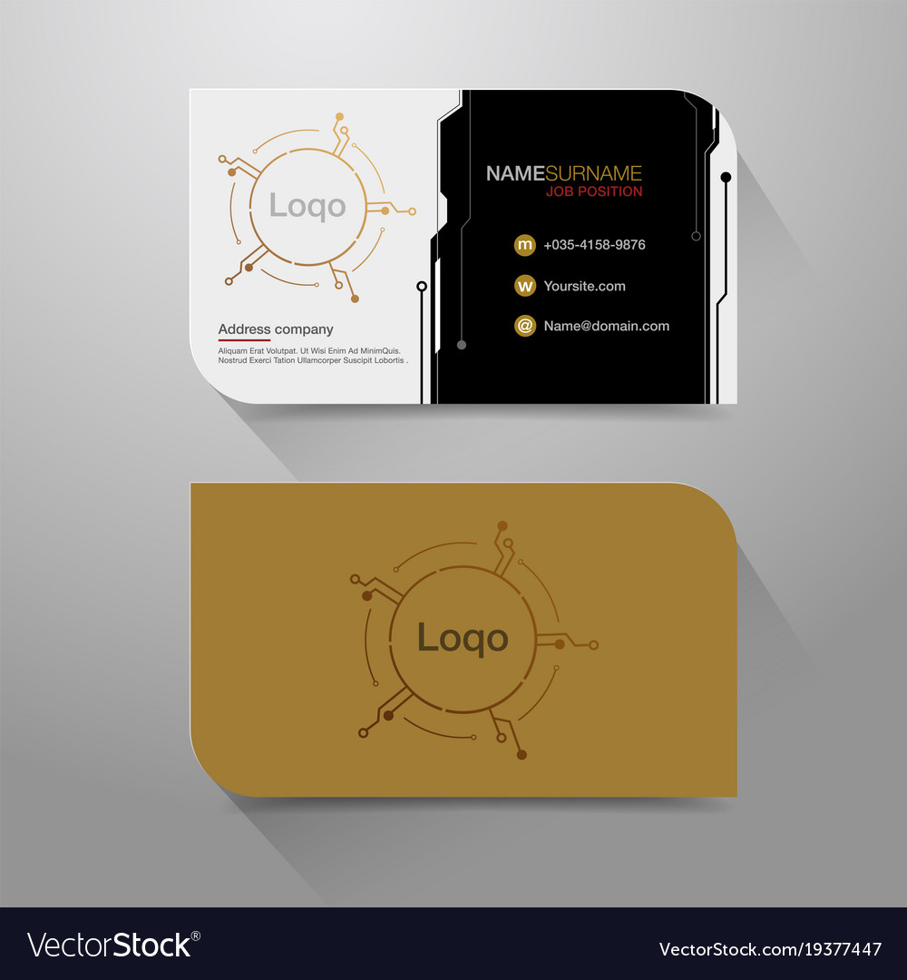 Business name card digital background Royalty Free Vector