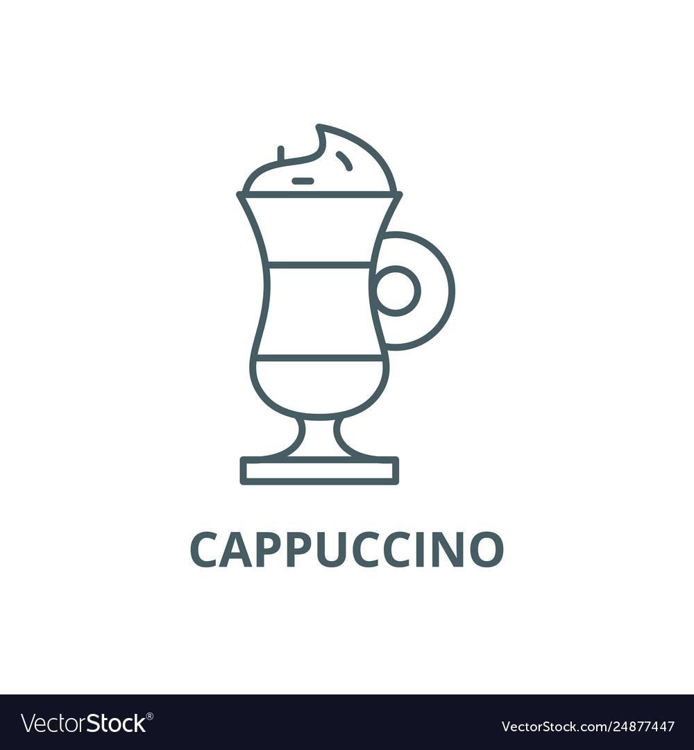 Cappuccino line icon cappuccino outline
