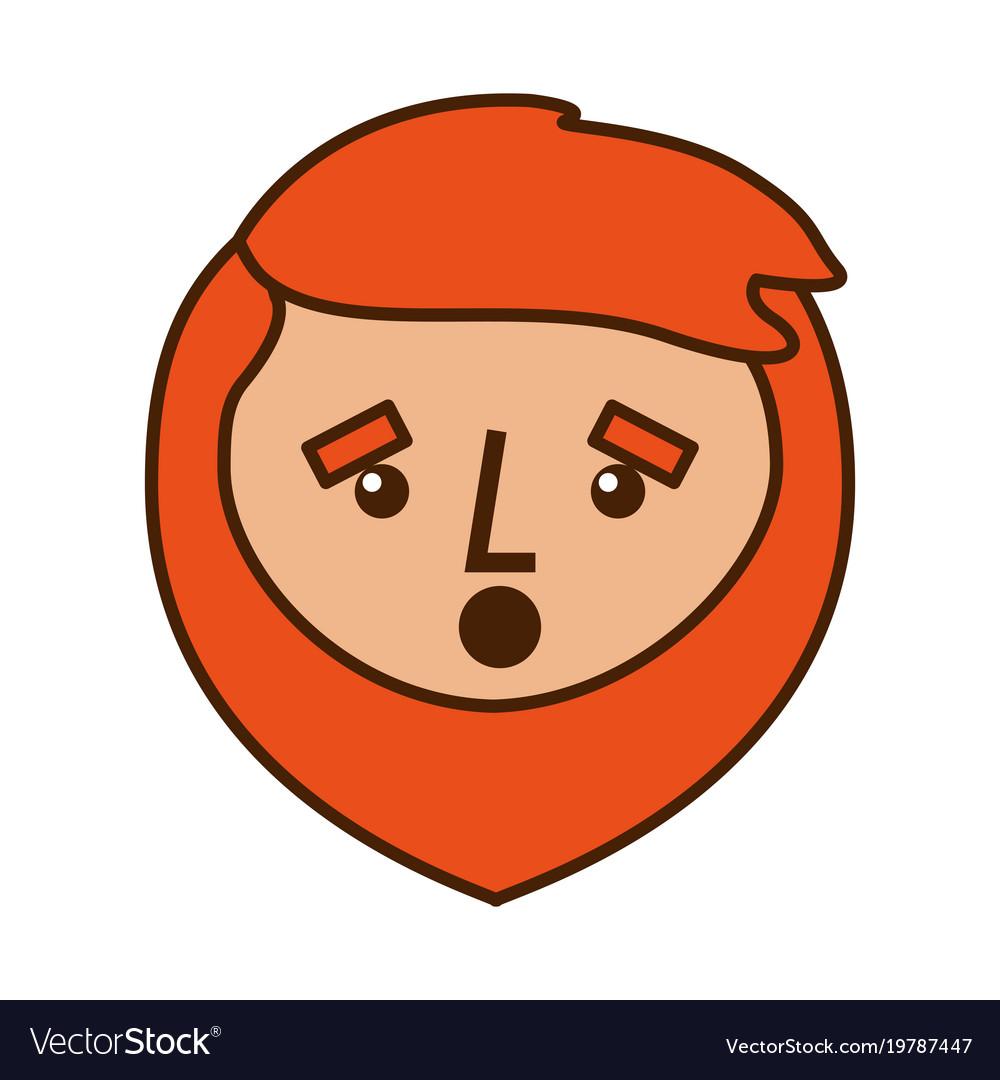 cartoon surprised face man beard character vector image rh vectorstock com cartoon surprised face funny surprised face cartoon