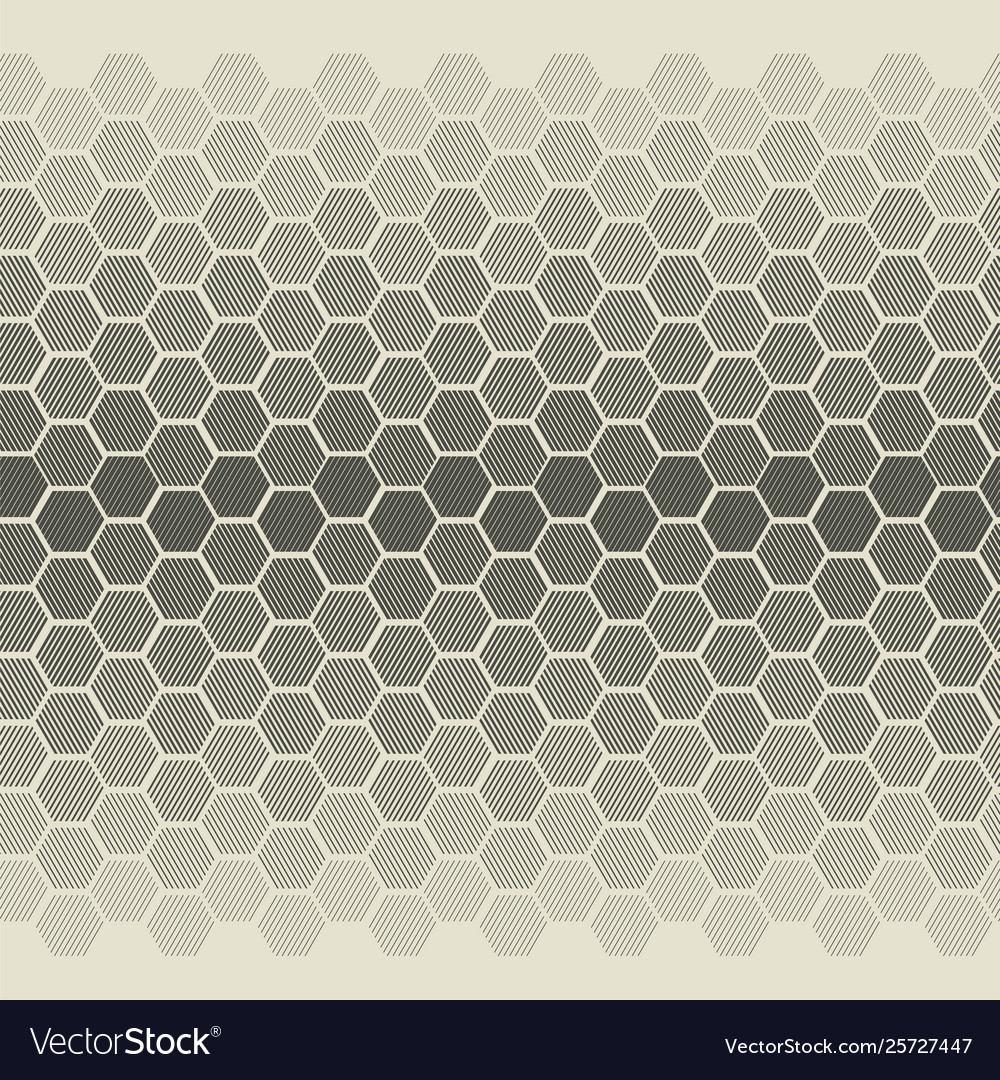 Degrade with striped hexagon shapes