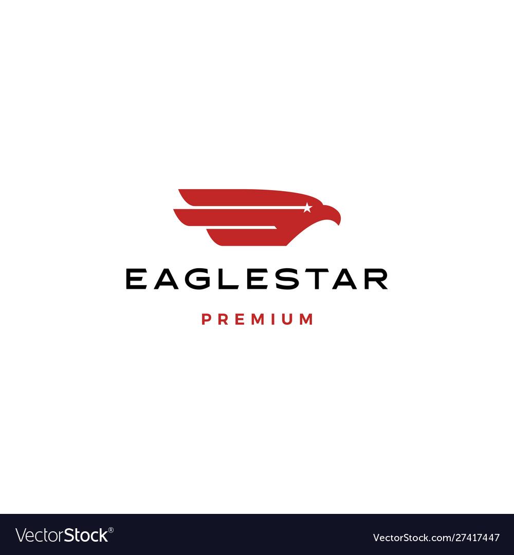 Eagle bird star stars logo icon