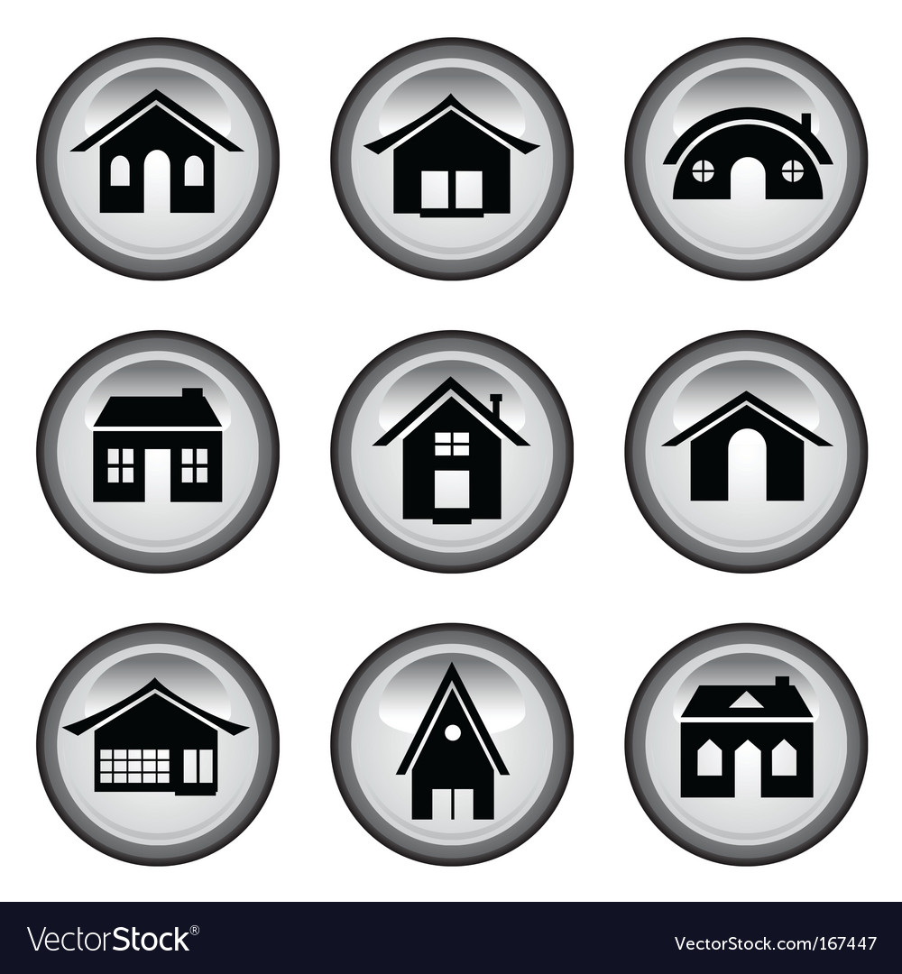 Home buttons set