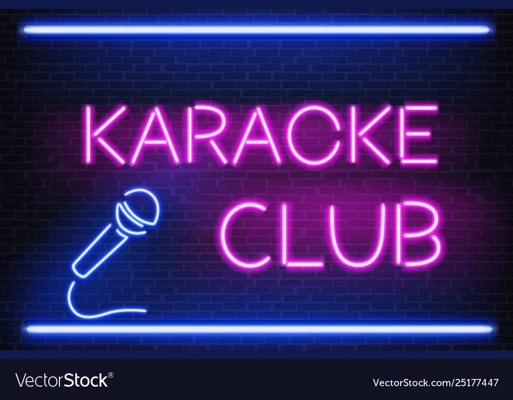 Karaoke nightclub neon light signboard