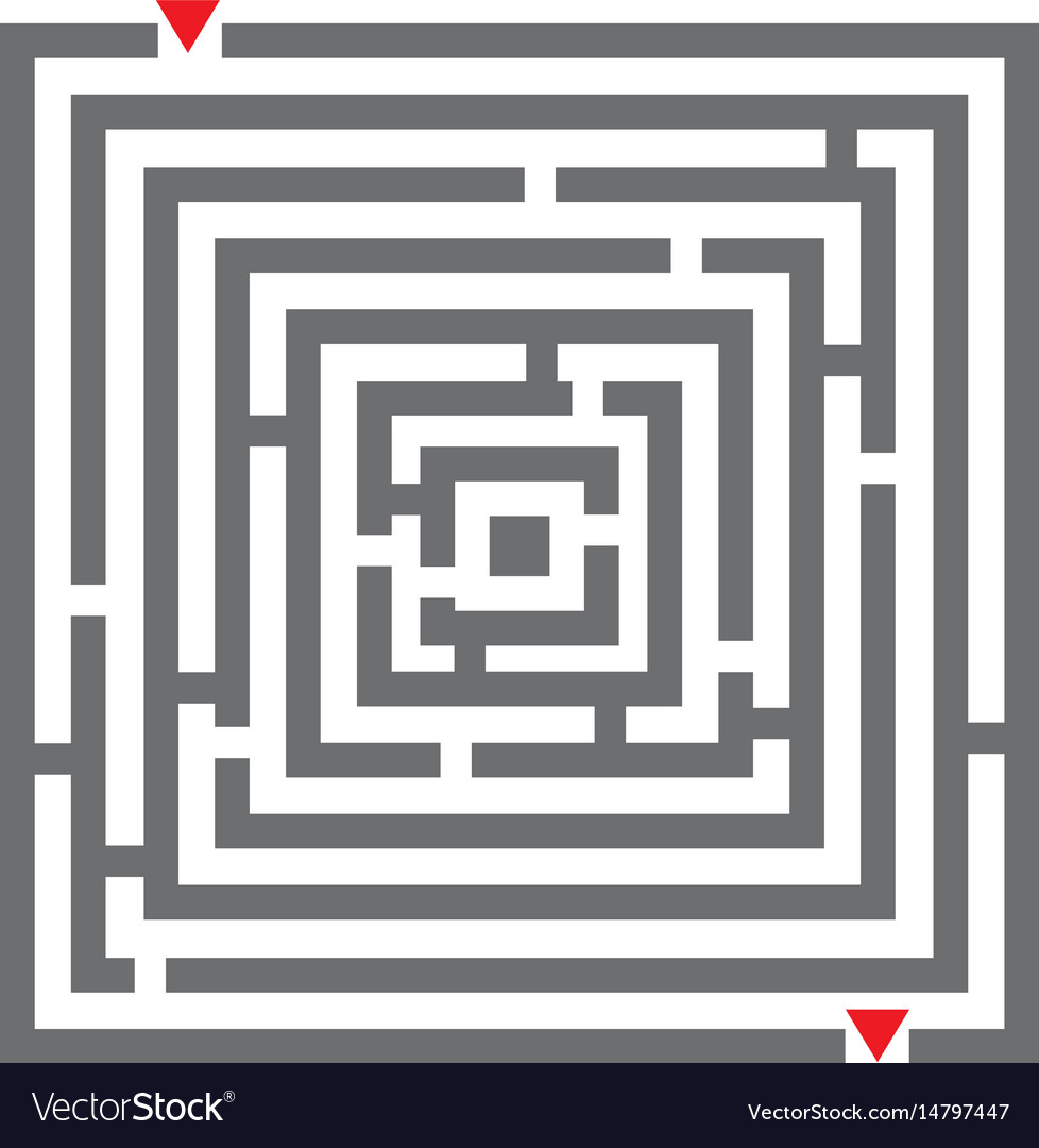 Maze labyrinth Royalty Free Vector Image - VectorStock