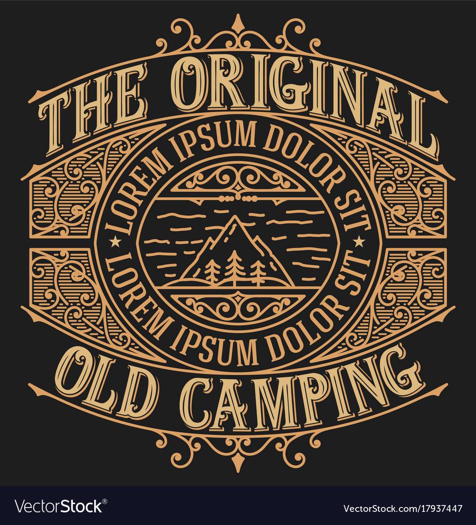 Old design for logo or packing