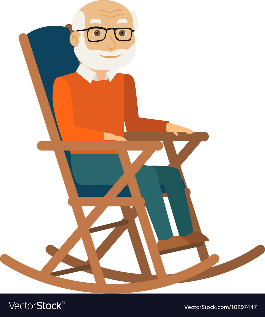 Excellent Old Man Sitting In Rocking Chair Pdpeps Interior Chair Design Pdpepsorg