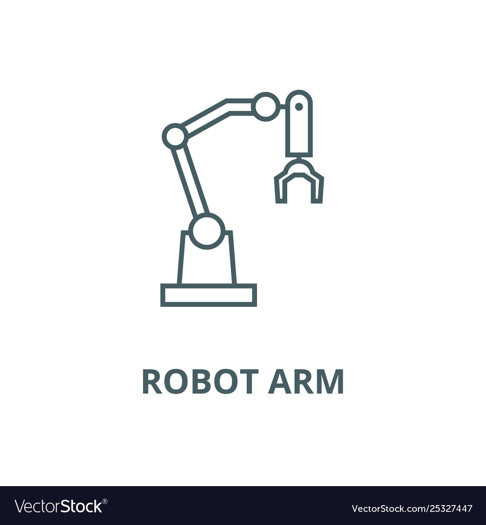 Robot arm line icon linear concept