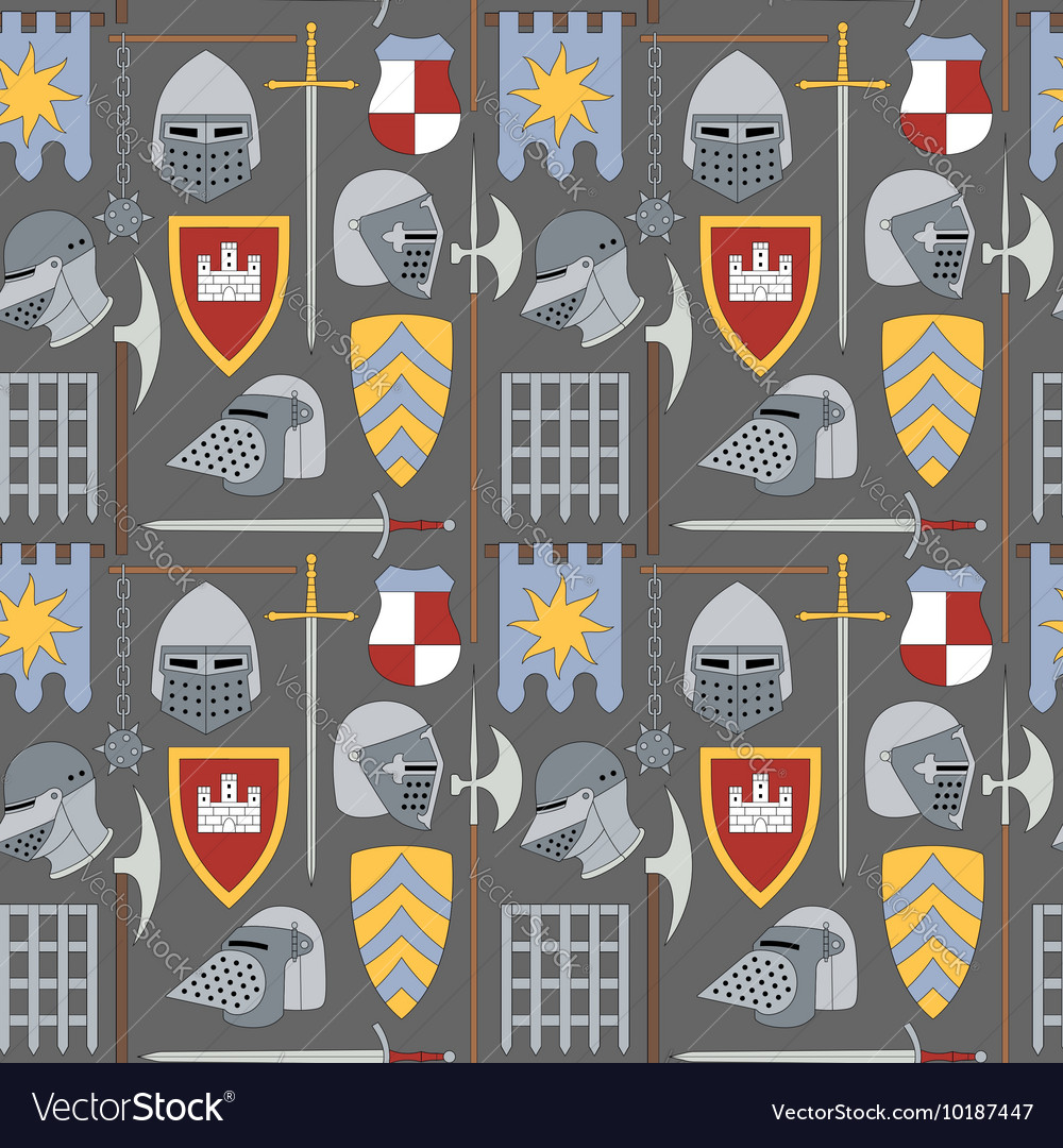 Seamless medieval pattern number one
