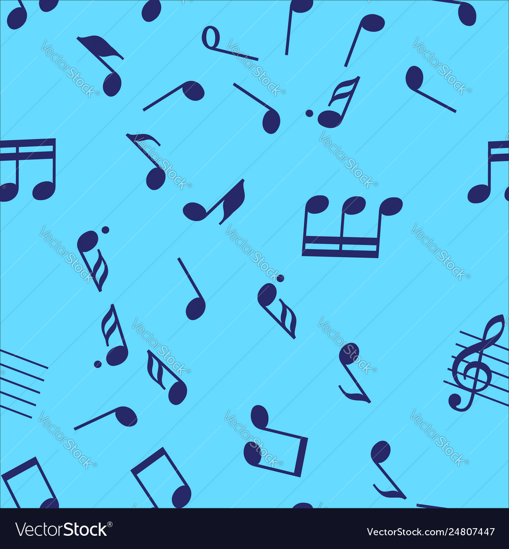 Seamless music notes pattern