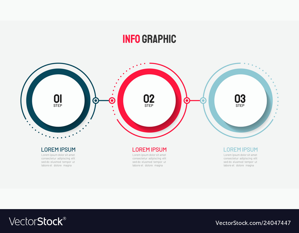 Timeline infographic design with circle template