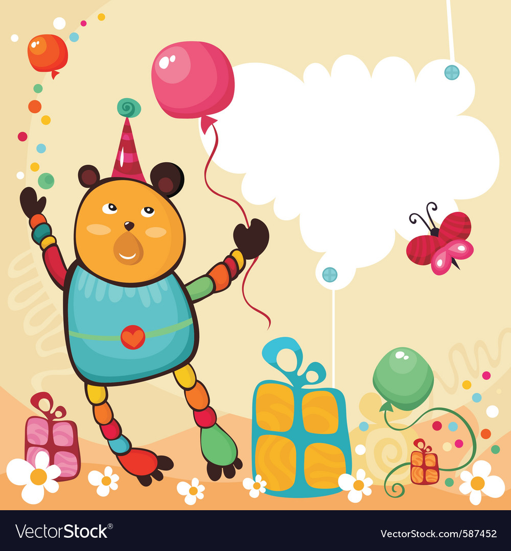 Birthday card vector 587452 by nem4a | Royalty Free Vec