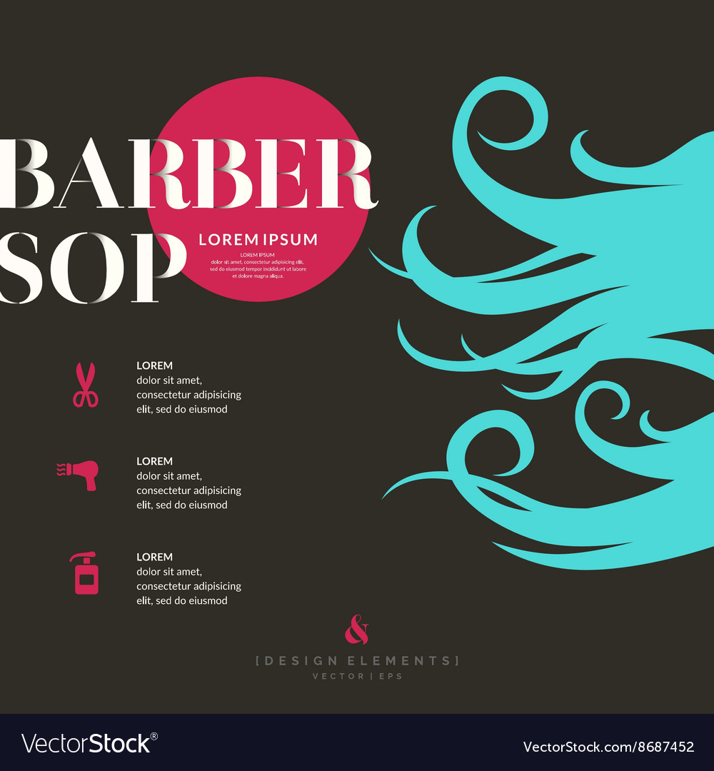 Bright poster for the Barber shop
