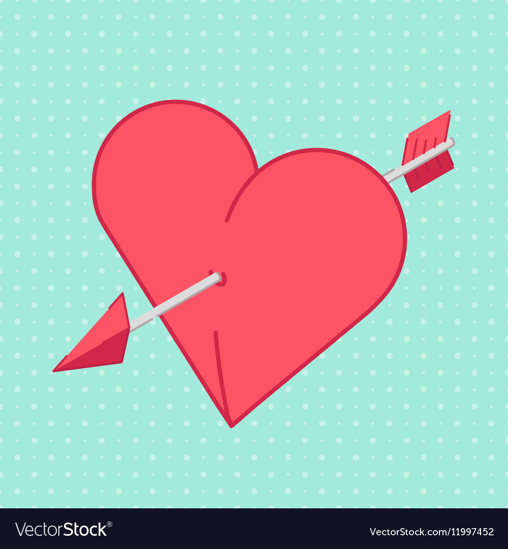 Heart and Arrow Abstract holiday background