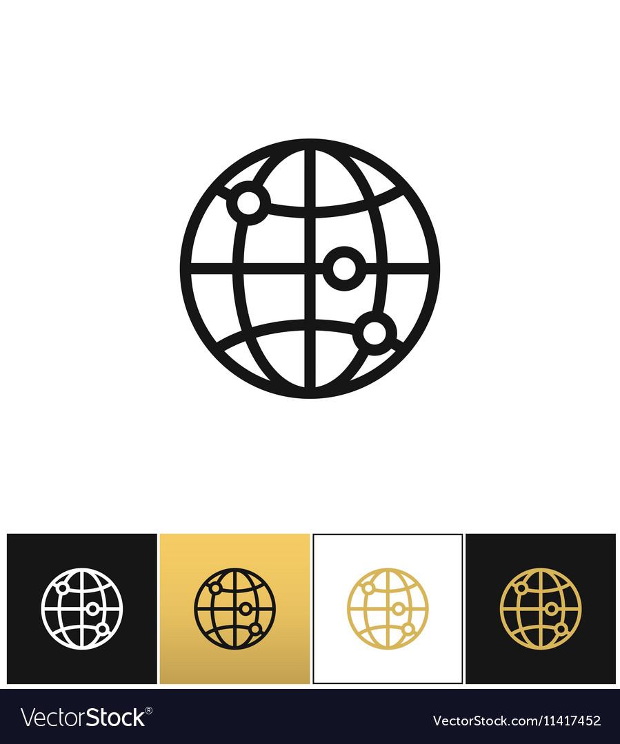 Internet globe earth world icon royalty free vector image internet globe earth world icon vector image publicscrutiny Choice Image