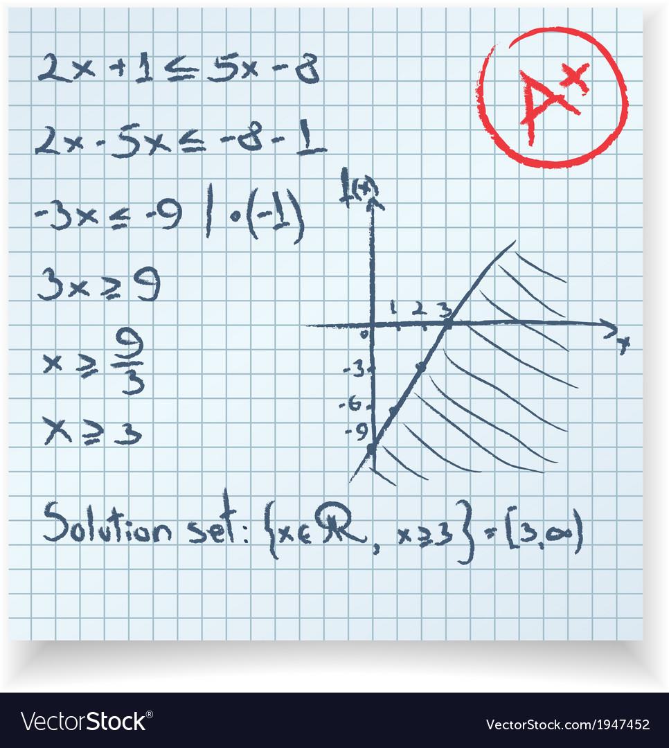 Math test and exam inequality