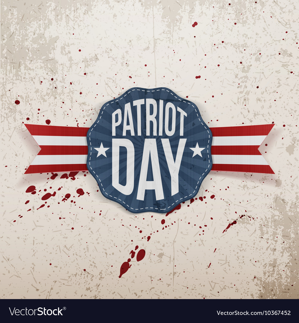 Patriot Day Text on decorative Tag vector image
