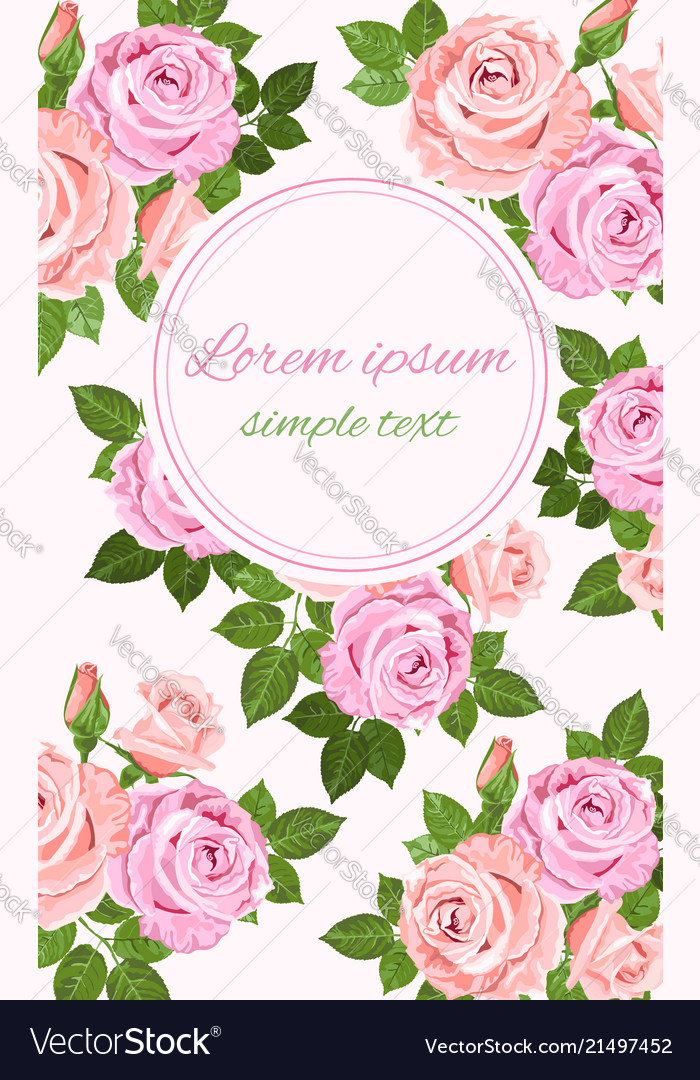 Pink and beige roses floral decor