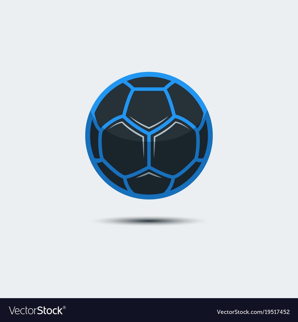 Soccer Football Logo Template Creative Sport Ball Vector Image