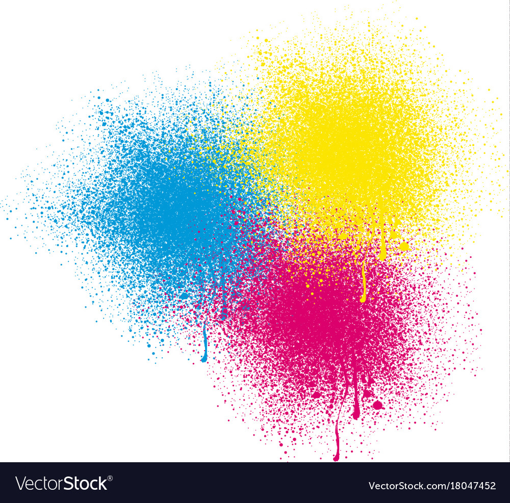 Three Colors Spray On White Background Vector Image