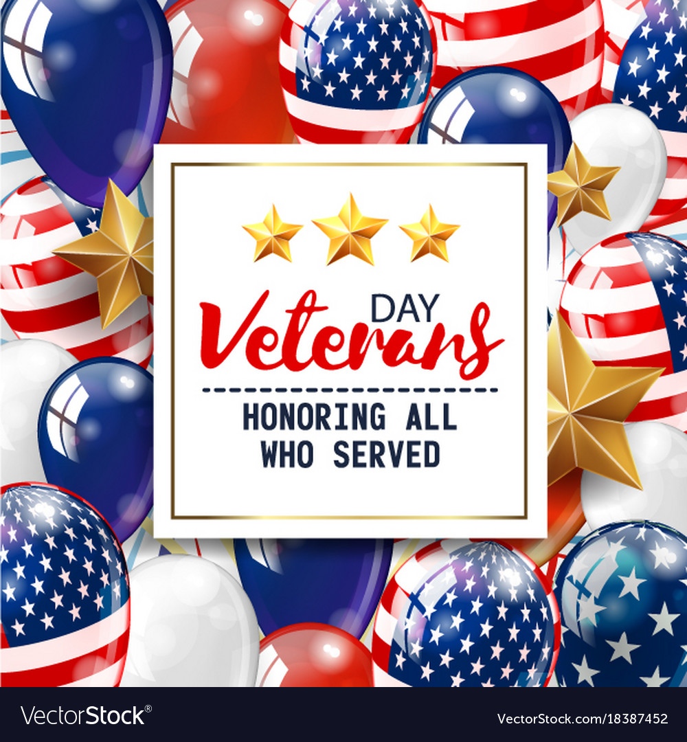 Veterans Day Greeting White Plate Royalty Free Vector Image