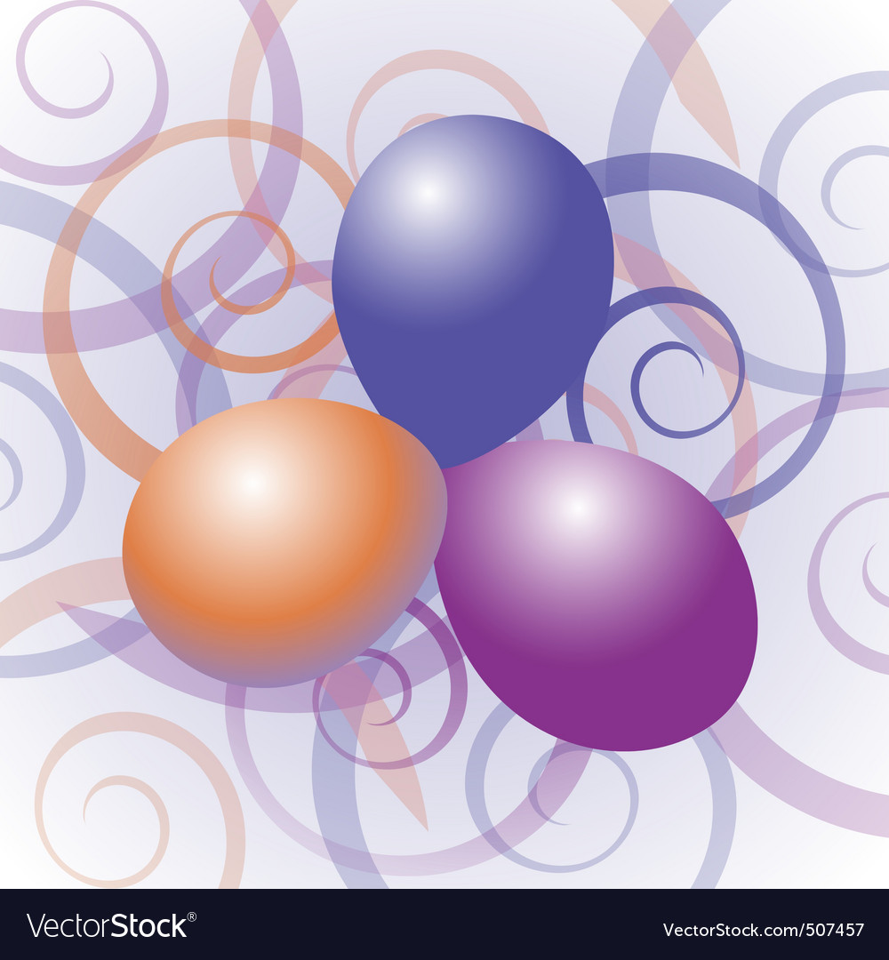 Balloons with swirl background