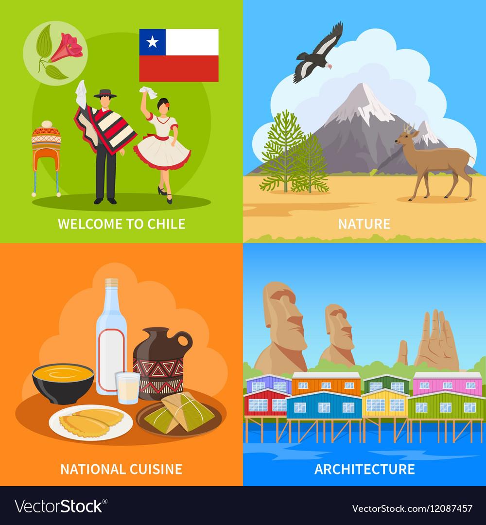 Chile 2x2 Design Concept vector image