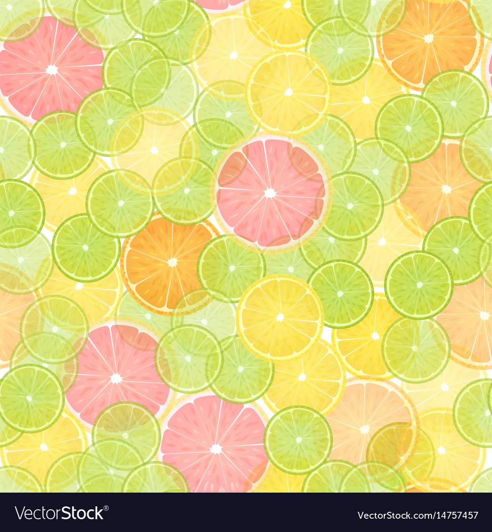 Colorful citrus lemon seamless pattern