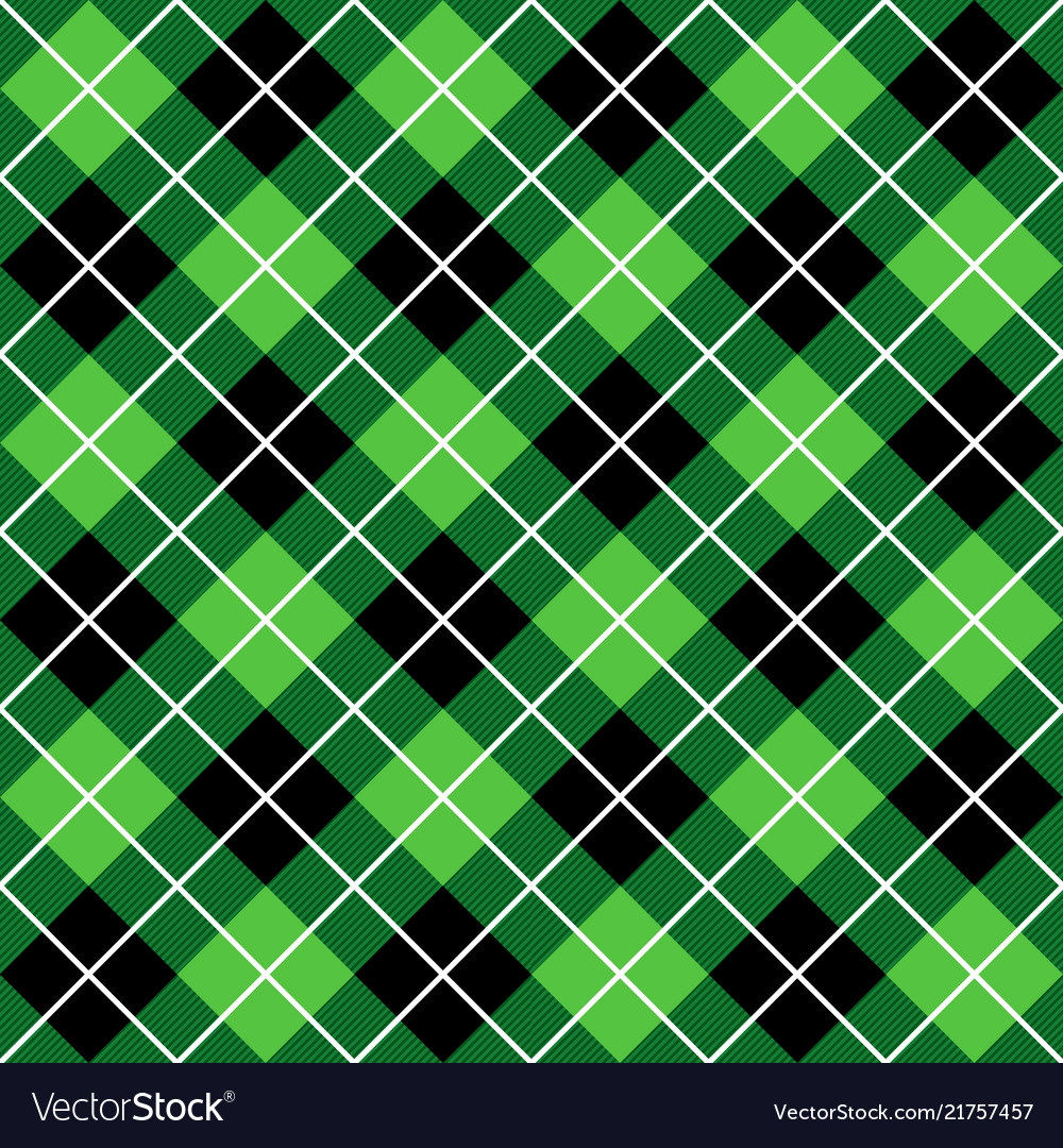 Green and black halloween argyle harlequin pattern