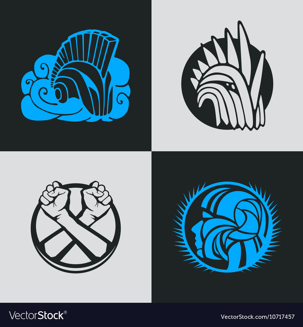 knight helmet logo template royalty free vector image