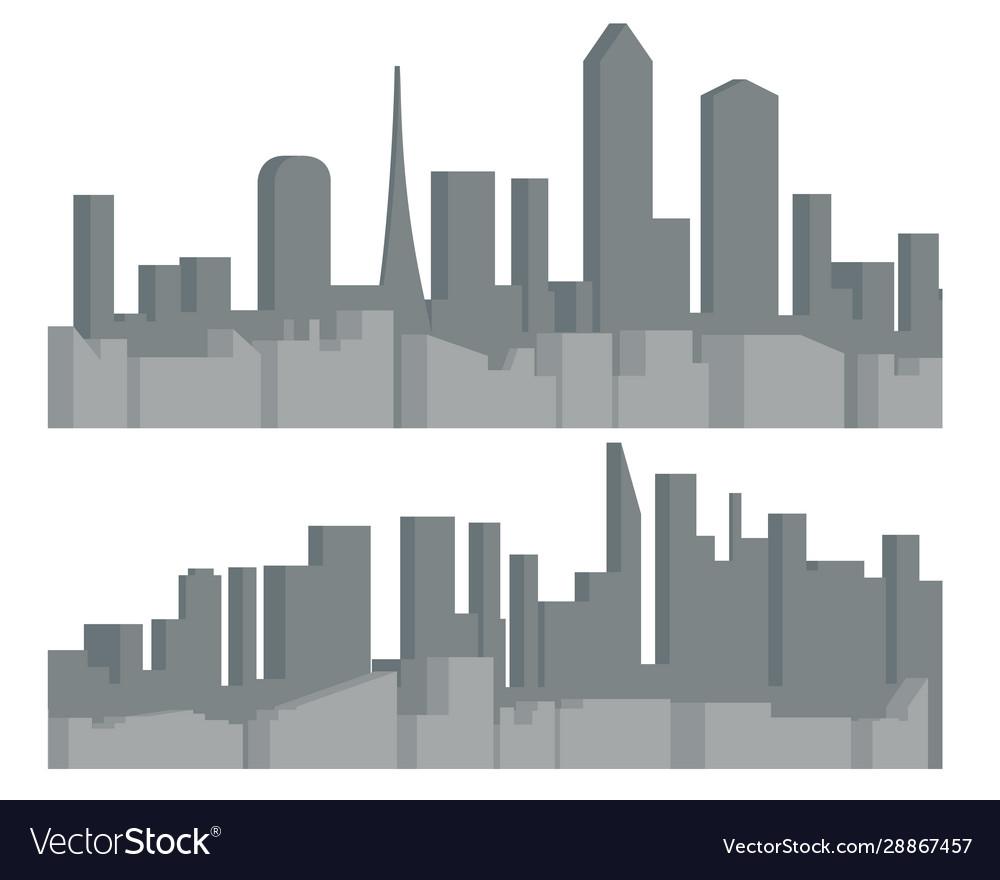 Modern cityscape urban silhouette landscape city