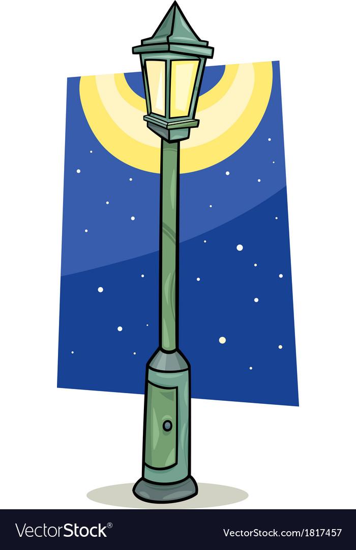 Streetlight Lantern Cartoon Vector Image