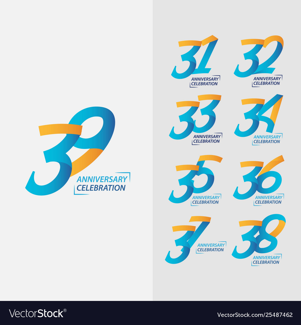 39 year anniversary celebration set template