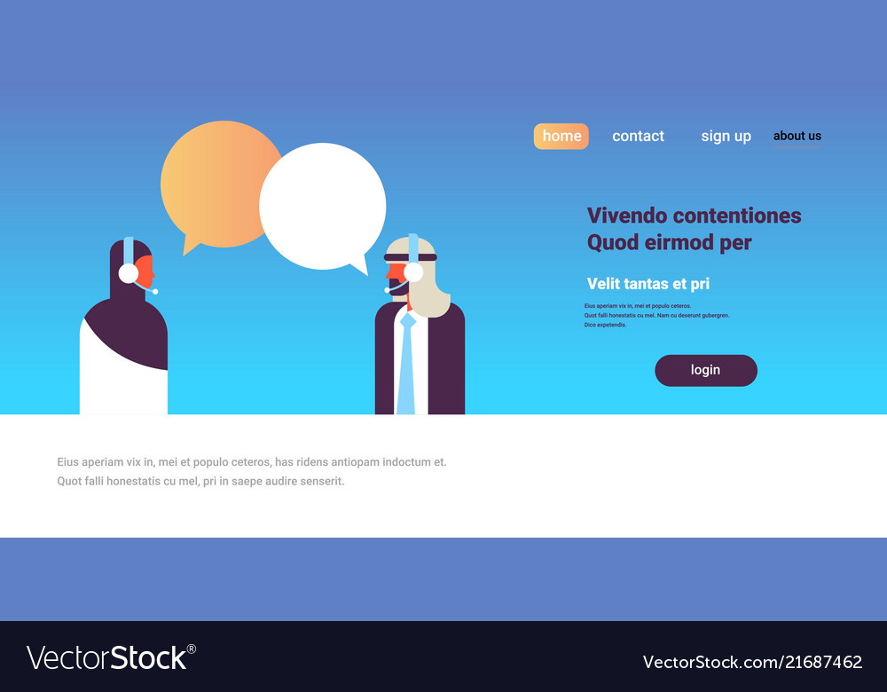 Arabic couple chat bubbles communication support