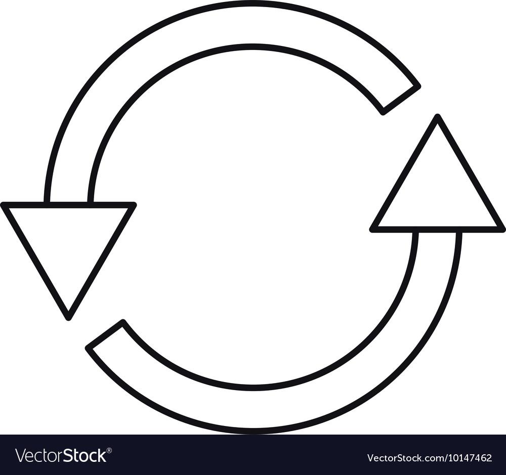 Arrows around isolated icon design