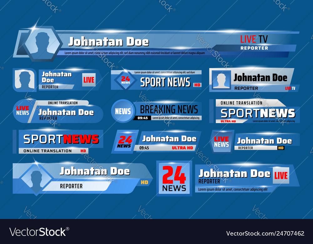 Breaking sport news television header tv backdrops