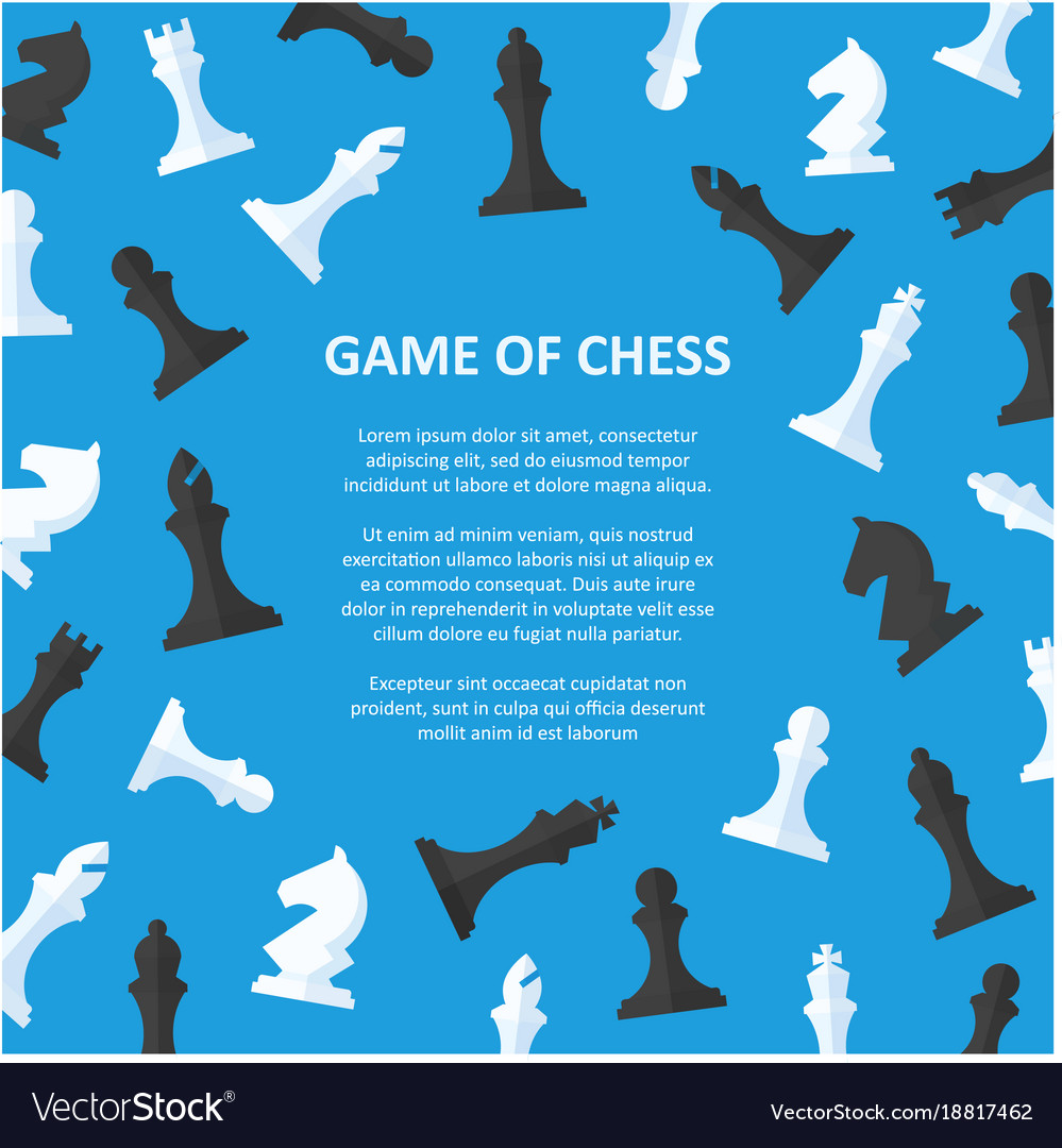 Chess pieces placard with space for text