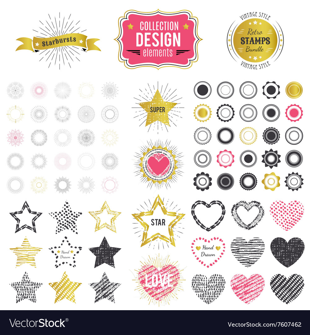 Collection premium design elements