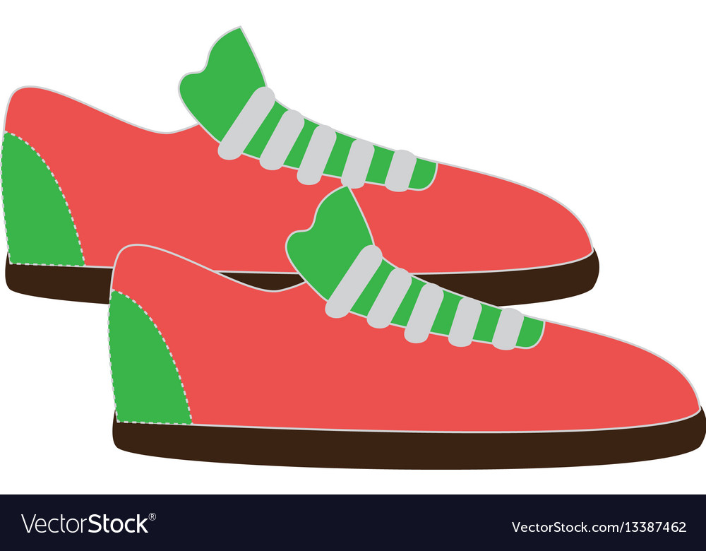 Colorful fitness sneakers design icon vector image