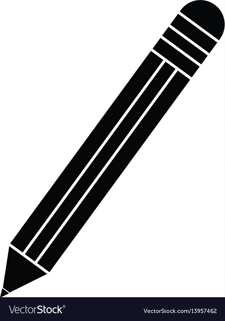 Pencil school utensil item pictogram