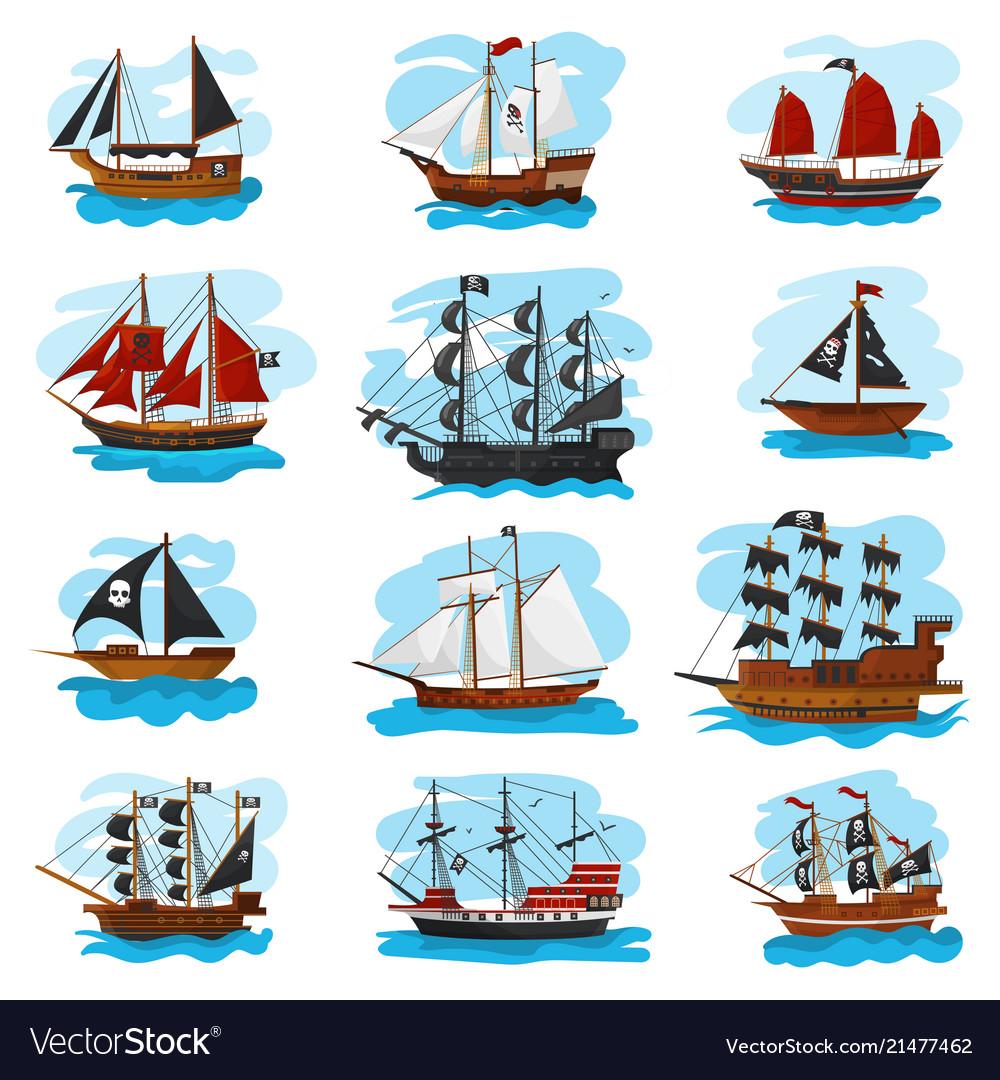 Piratic ship pirating boat vessel sailboat